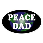 Peace Dad (oval earth bumper sticker)