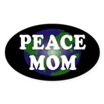 Peace Mom (oval earth bumper sticker)