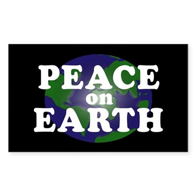 Peace on Earth (bumper sticker)