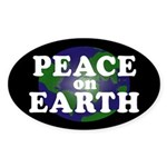 Peace on Earth (oval bumper sticker)