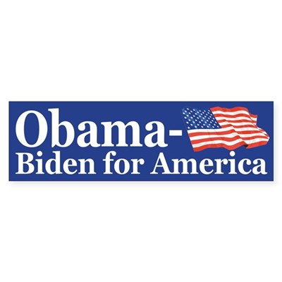 Obama-Biden for America (flag bumper sticker)