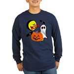 Halloween Friends Long Sleeve Dark T-Shirt