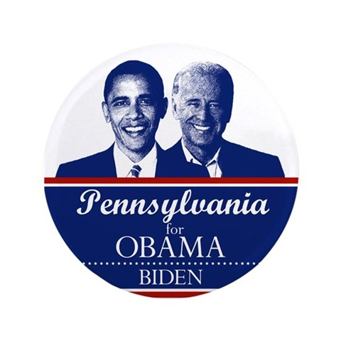 Pennsylvania for Obama  Political 3.5 Button 100 pack by CafePress