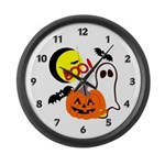 Halloween Friends Large Wall Clock