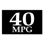 40 mpg (fuel efficiency bumper sticker)
