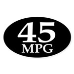 45 mpg (fuel efficiency bumper sticker)