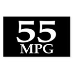 55 mpg (gas mileage bumper sticker)