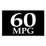 60 mpg (car mileage bumper sticker)