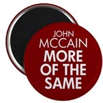 McCain More of the Same Magnet