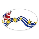 Obama Biden Sticker (Oval 10 pk)