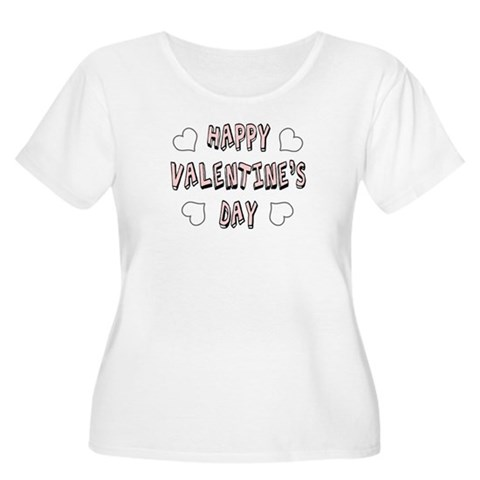 'Happy Valentine's Day' Women's Plus Size Scoop Ne Valentines day Women's Plus Size Scoop Neck T-Shirt by CafePress