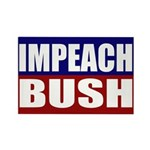 Impeach Bush Rectangle Magnet