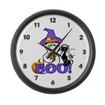 Halloween Ghost Large Wall Clock