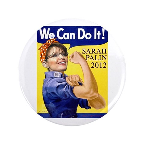 Sarah Palin We Can Do It  Conservative 3.5 Button 100 pack by CafePress