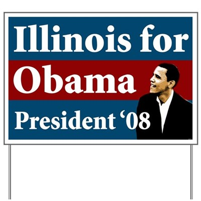 Put this lawn sign for Barack Obama out in your yard and support the cause of hope and progress in 2008 for your neighborhood.