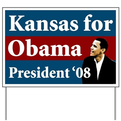 Support Barack Obama for President in Kansas with this lawn sign that will show your neighbors that you stand for a change of direction for America - for the better.