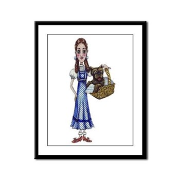 Whimsical Dorothy and Toto Framed Panel Print | Wonderful Wizard of Oz Clothing | Wizard of Oz T-Shirts
