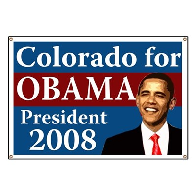Colorado supports Barack Obama for President in 2008 because America cannot afford another four years of the same. Join Colorado for Obama with this banner.