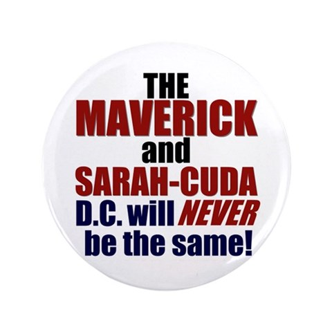 Maverick  Sarah-Cuda  Conservative 3.5 Button 100 pack by CafePress