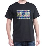 Israel Flag Stained Glass T-Shirt