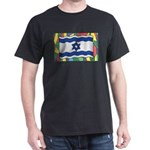 Israel Flag On Stained Glass T-Shirt