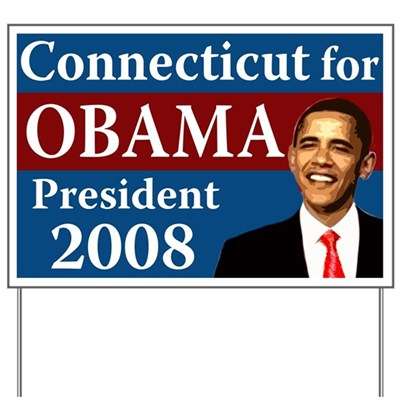 Connecticut for Obama yard sign