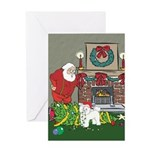 Santa's Helper Bichon Frise Cards & Ornaments