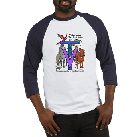 - Surrounded by Friends Dog Baseball Jersey by CafePress
