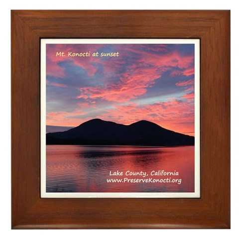 - Konocti Sunset California Framed Tile by CafePress