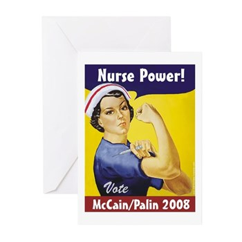 Nurses for McCain Palin Greeting Cards (Pk of 10)
