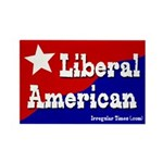 Liberal American Rectangle Magnet
