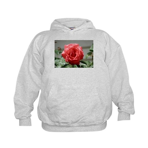 After the Rain Flower,  Art Kids Hoodie by CafePress