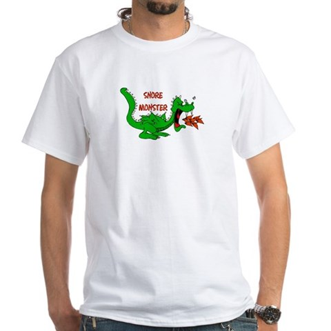 Product Image of Snore Monster White T-Shirt