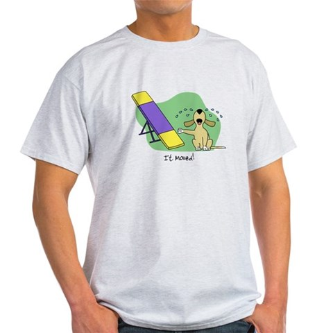 See-Saw Agility Dog Light TShirt Humor Light T-Shirt by CafePress