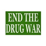 End the Drug War Rectangular Magnet