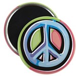 "Painted Peace Sign 2.25"" Magnet (10 pack)"