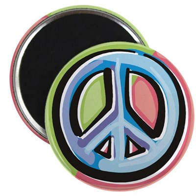 Painted Peace Sign Round