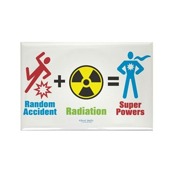 Super Powers Rectangle Magnet | Gifts For A Geek | Geek T-Shirts