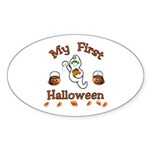 My First Halloween Sticker (Oval)