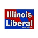 Illinois Liberal Rectangular Magnet