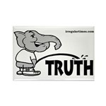 Republican Elephant Peeing on Truth Magnet