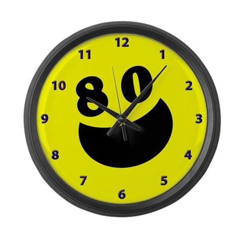 80th Birthday Gifts  80th birthday Large Wall Clock by CafePress