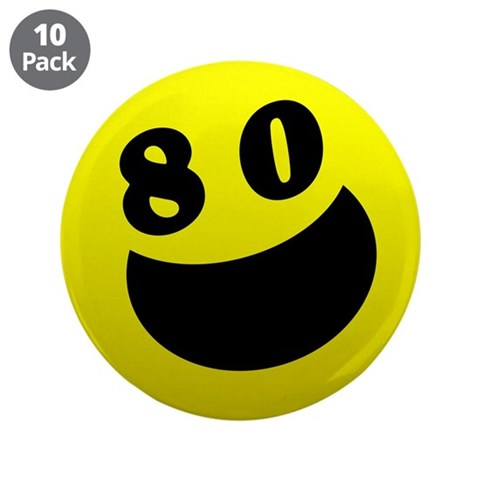 80th Birthday Gifts  80th birthday 3.5 Button 10 pack by CafePress