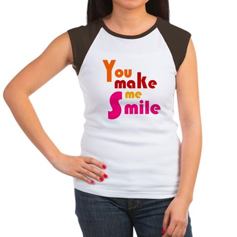 Product Image of 'You Make Me Smile' Women's Cap Sleeve T-Shirt