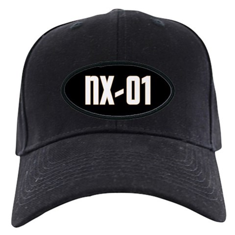 NX-01 - White text/Gold highlights Star trek Black Cap
