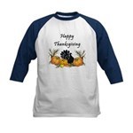 Happy Thanksgiving Kids Baseball Jersey