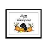 Happy Thanksgiving Framed Panel Print