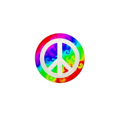 Groovy Peace Sign 1 Inch