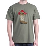 Flowers in Cowboy Boot T-Shirt