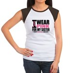 I Wear Pink Women's Cap Sleeve T-Shirt